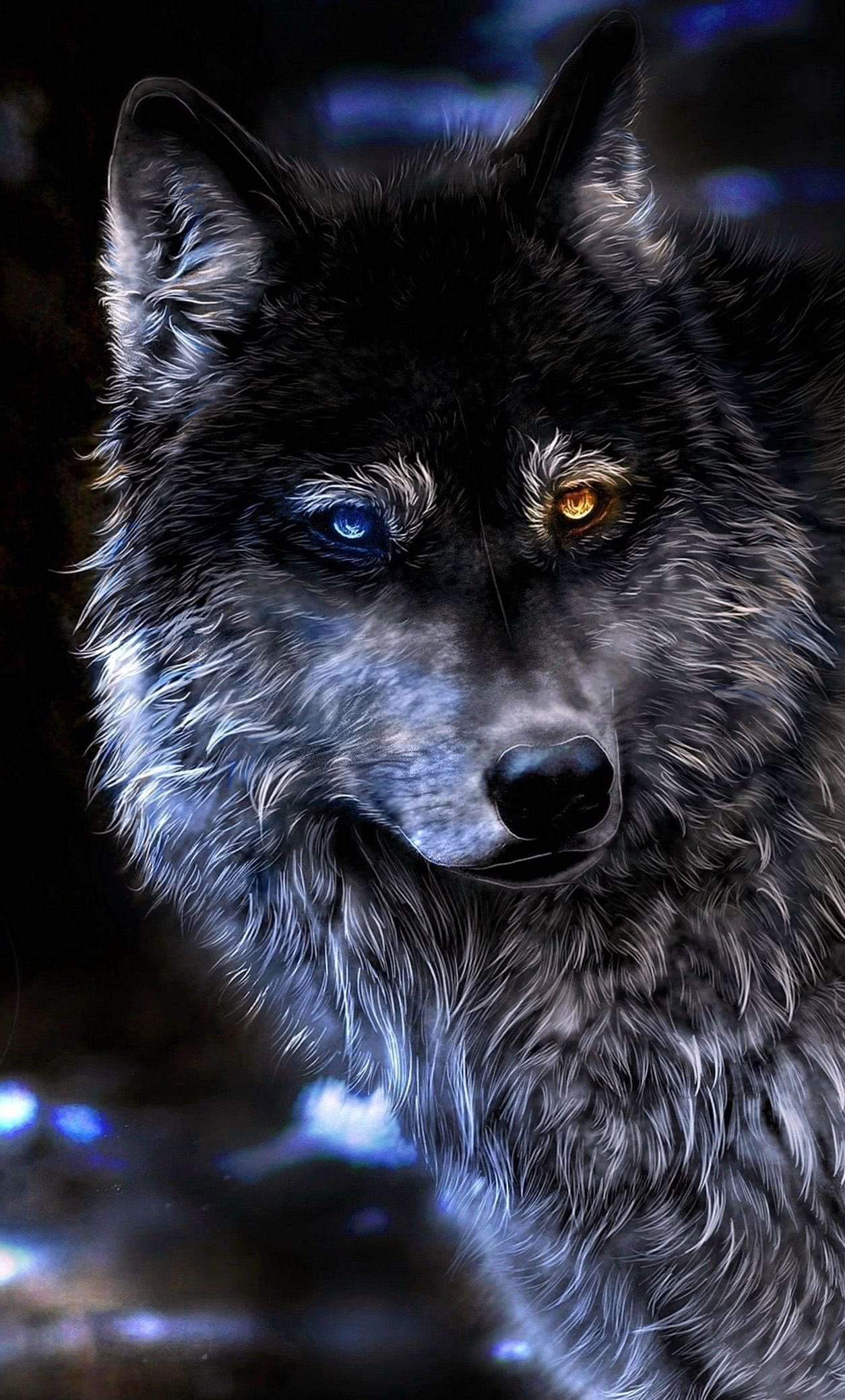 Angry Wolf Wallpapers 4k Iphone Wolf Wallpaperspro