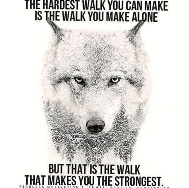 Lone Wolf Motivational Wallpaper
