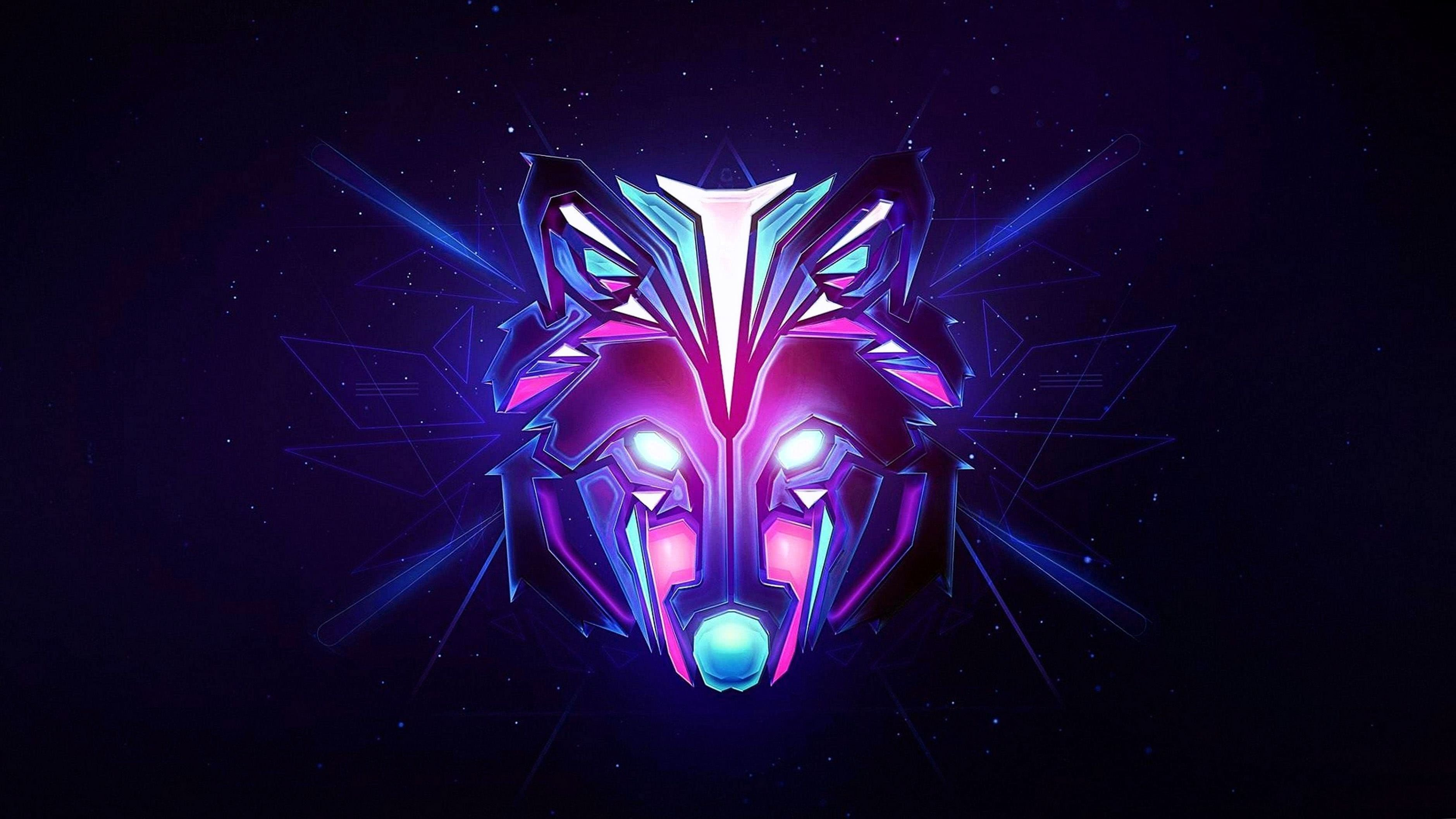 4K Wallpapers Abstract Wolf