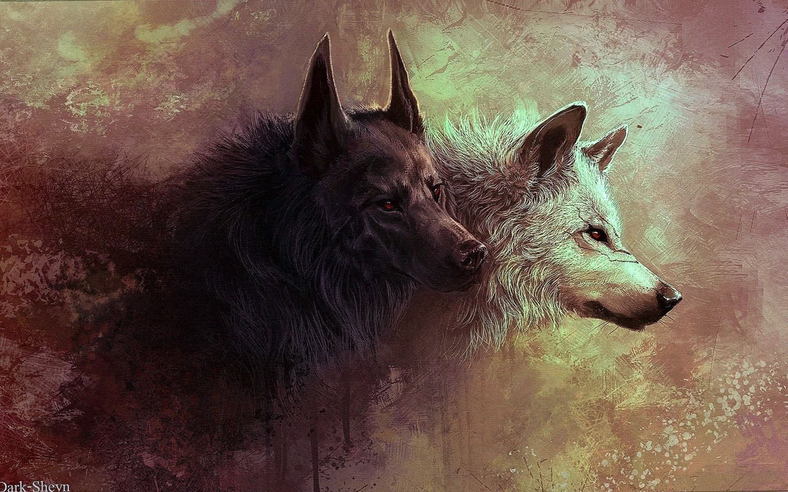 Wolf Drawing Wallpapers 4K