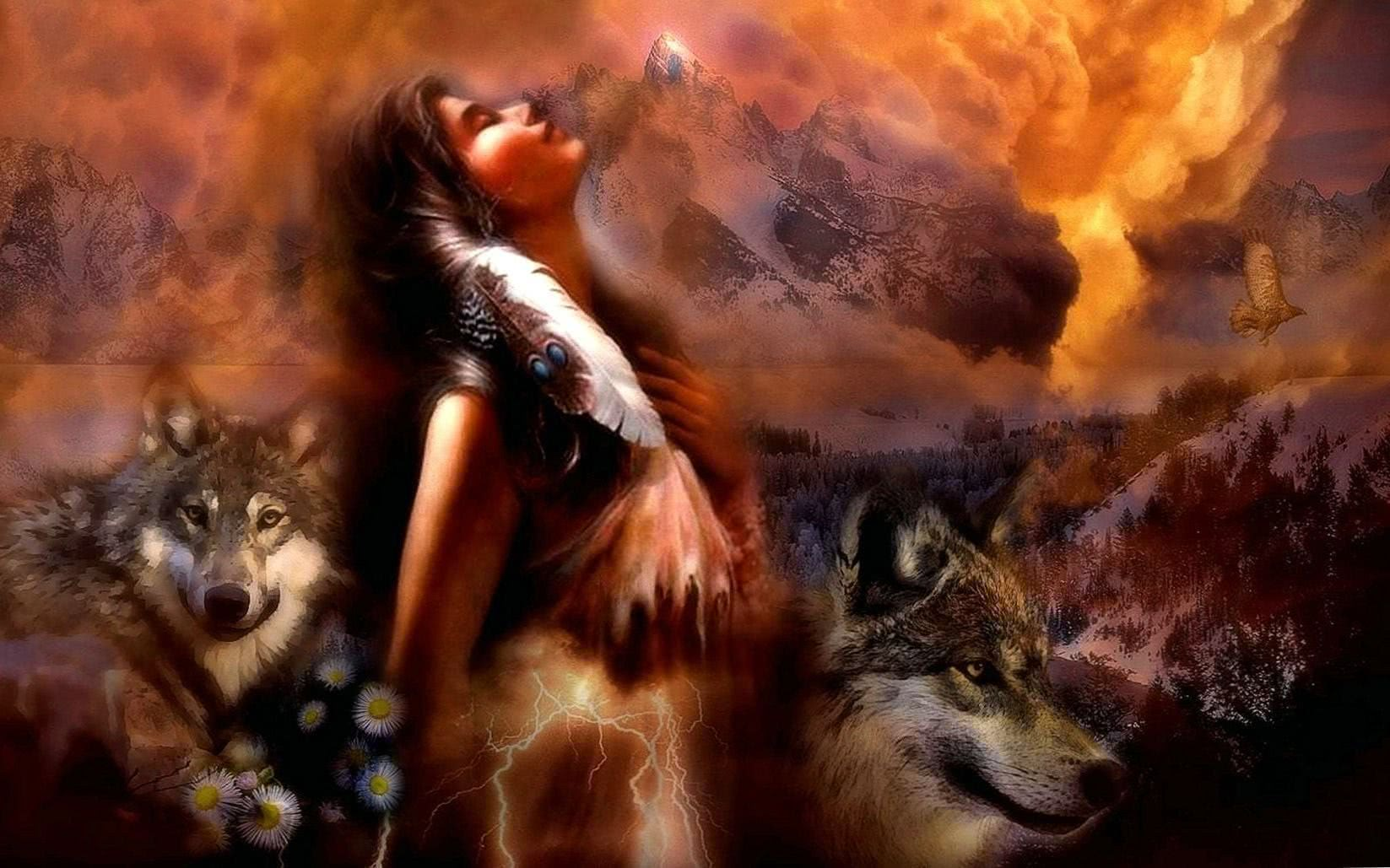 Native American Wolf Spirit Wallpapers Wolf Wallpapers Pro