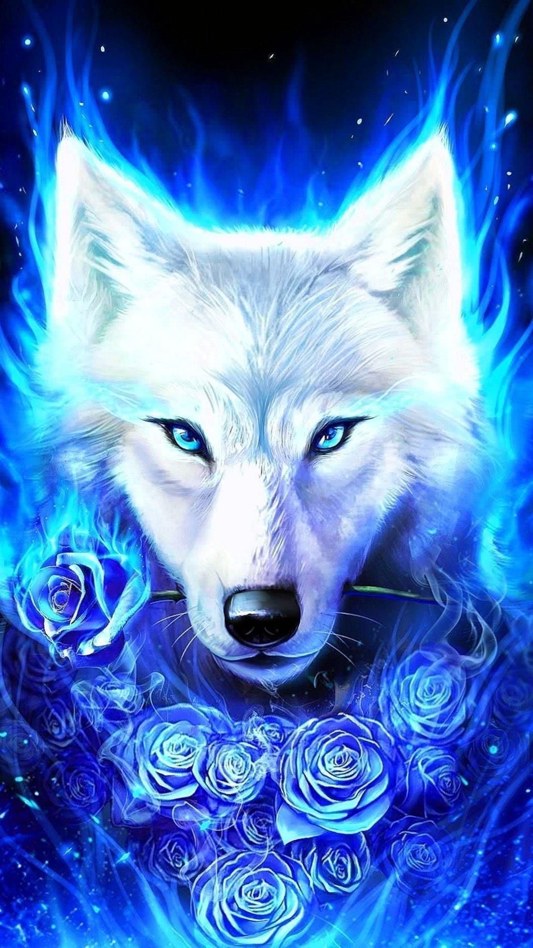 Wolf Galaxy Wallpaper HD