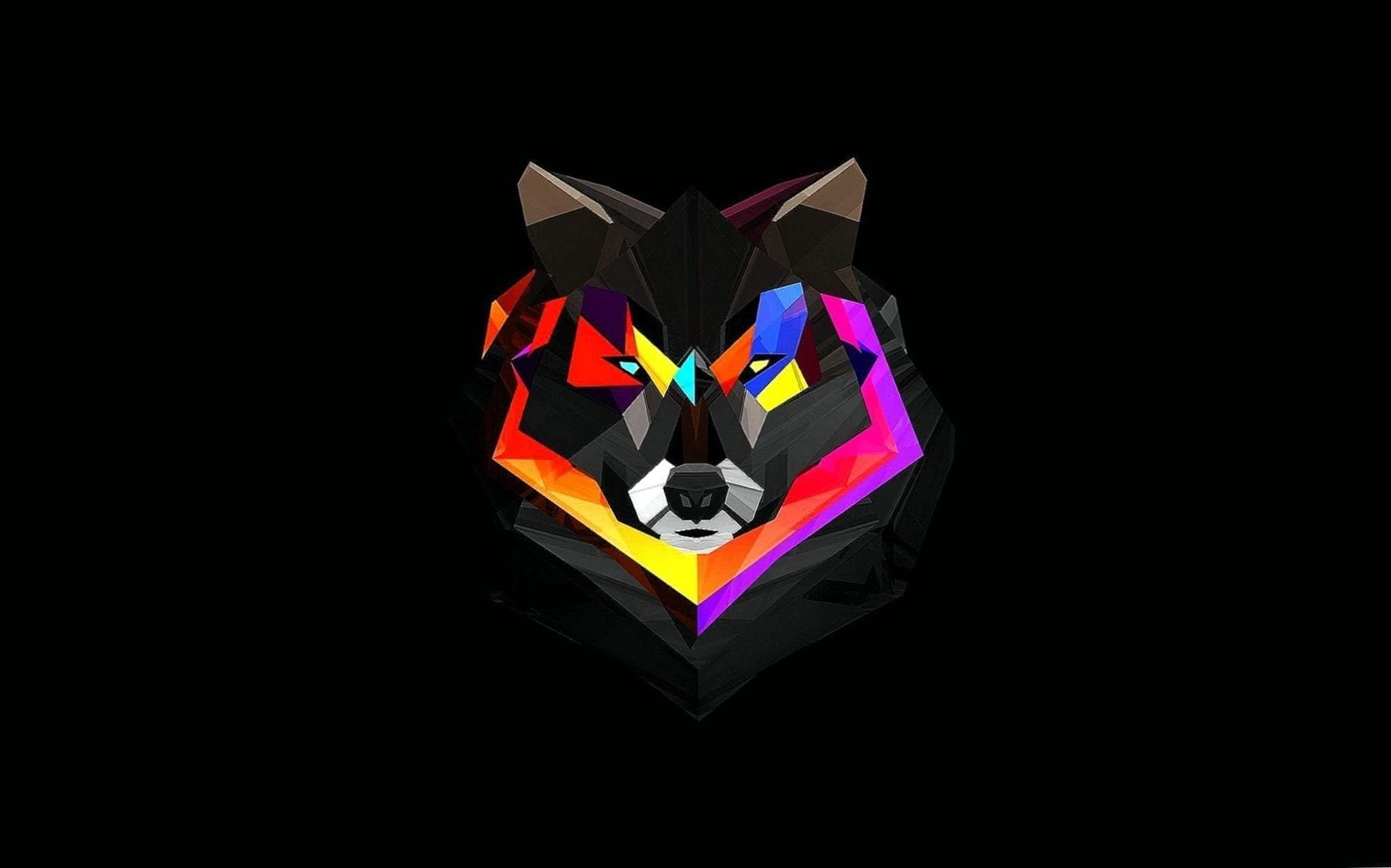 Abstract Wolf iPhone Wallpaper