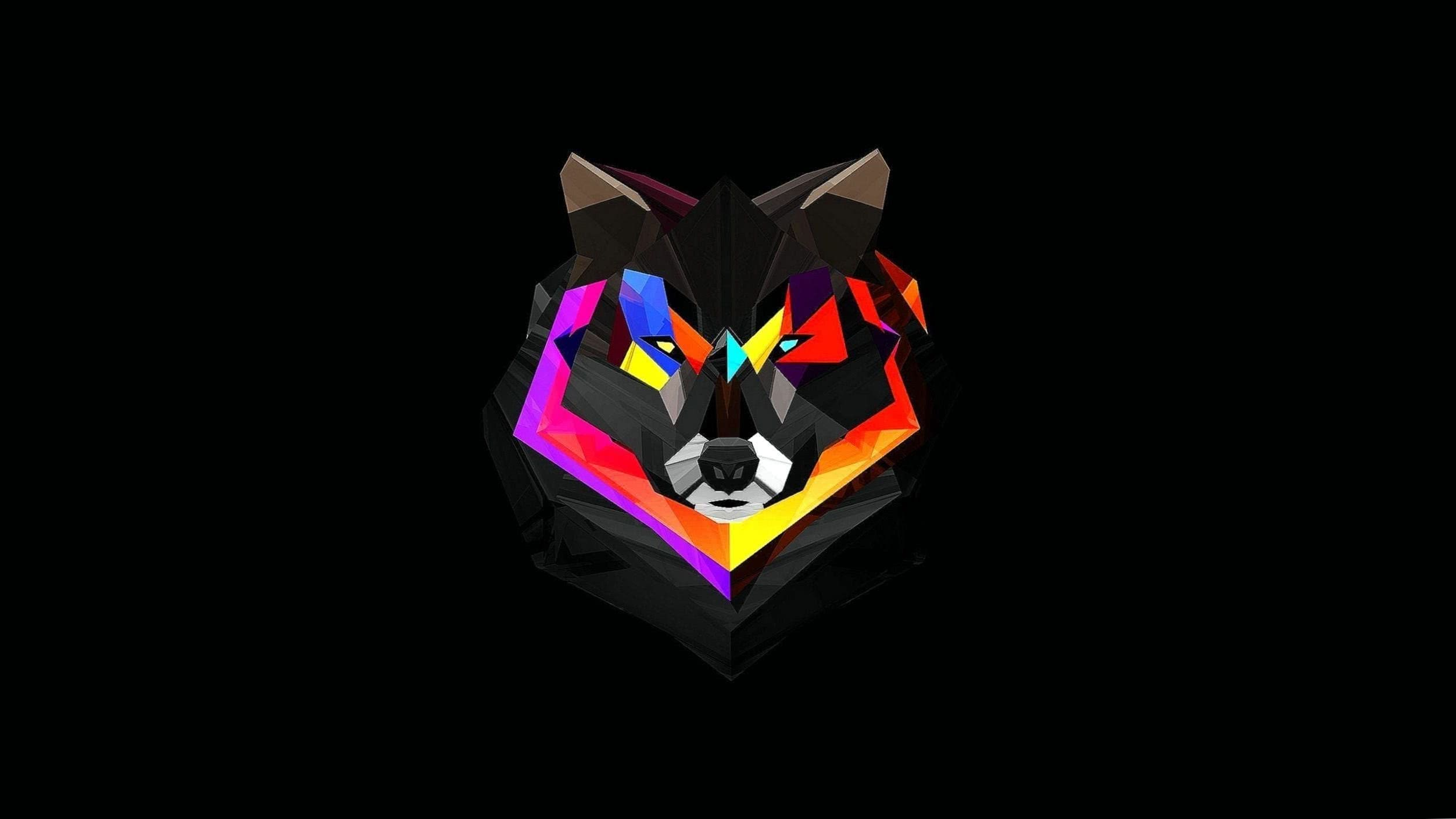 Wallpapers Wolf Abstract