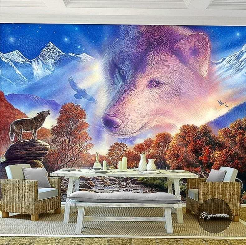 Wolf Wallpaper Room