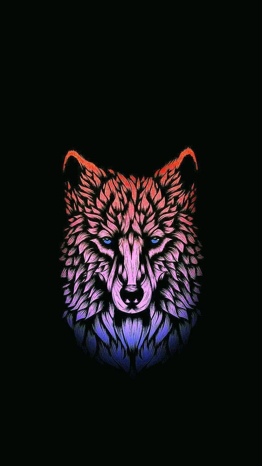 Amoled Wallpaper Wolf