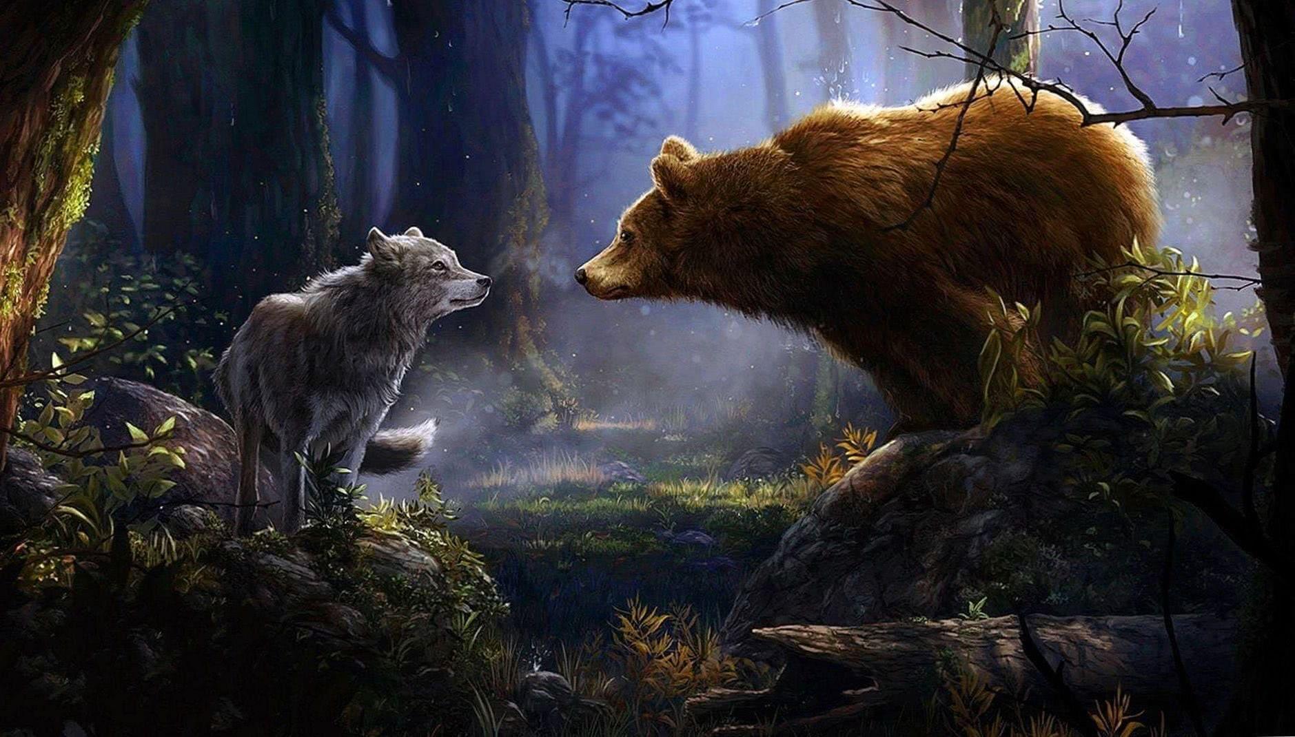 Wolves Forest Wallpaper