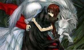 Wallpapers Anime Girl Wolf