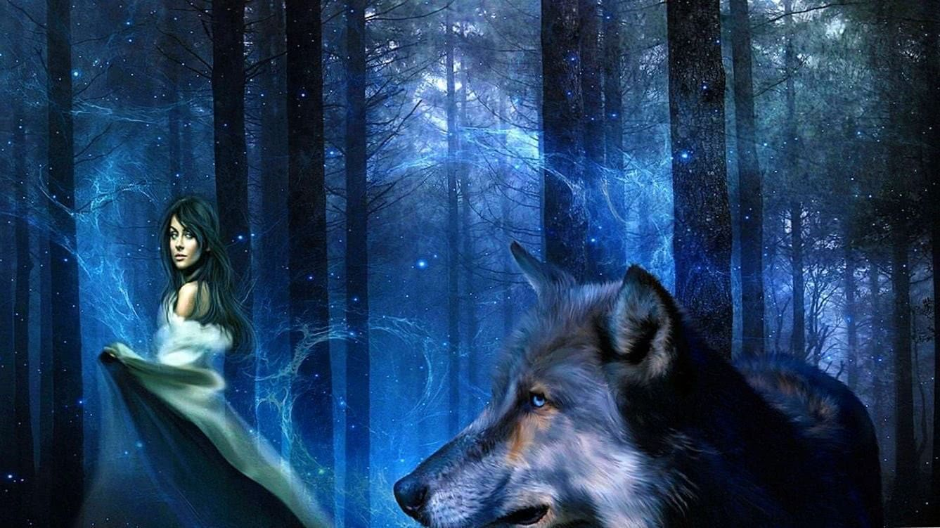 Wolf With Girl HD Wallpapers