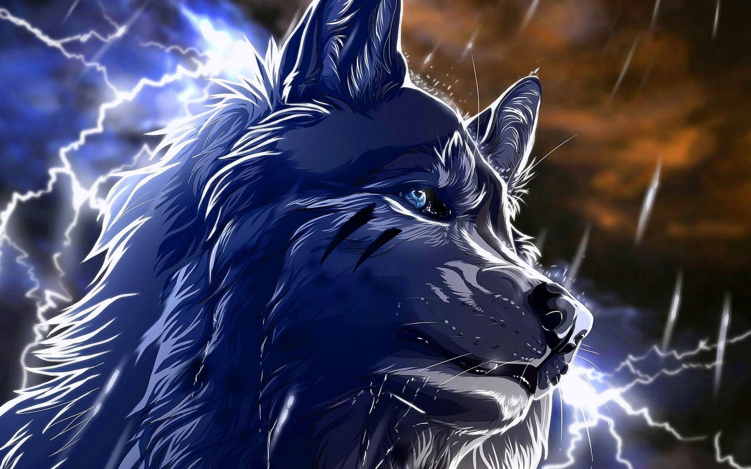 Wolf Black Animated Wallpaper