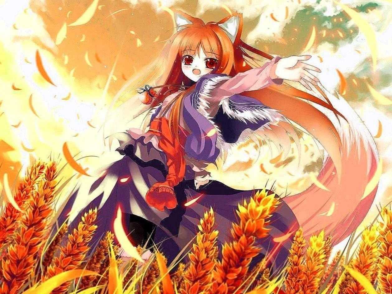 Anime Wolf Girl Wallpaper