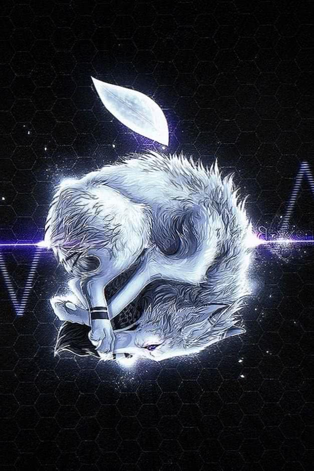 Apple Wallpaper Wolves