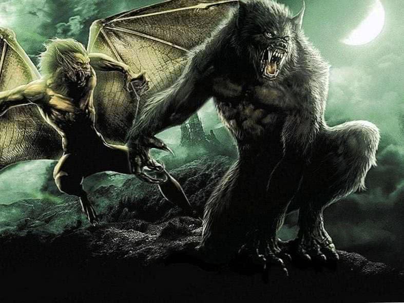 Werewolf Vs Vampire Wallpaper