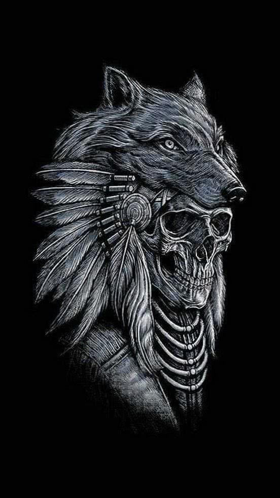 Wallpaper Wolf Head