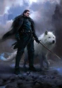 Jon Snow Wolf Wallpapers