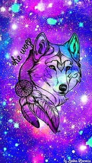 Galaxy Wolf iPhone Wallpapers