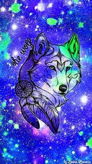Wallpapers Galaxy And Wolf