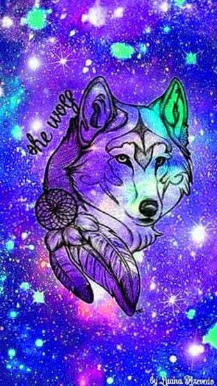 Galaxy Wallpapers With Wolf