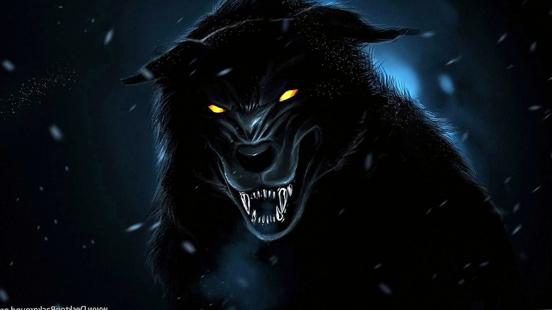 Wolf HD Black Wallpaper