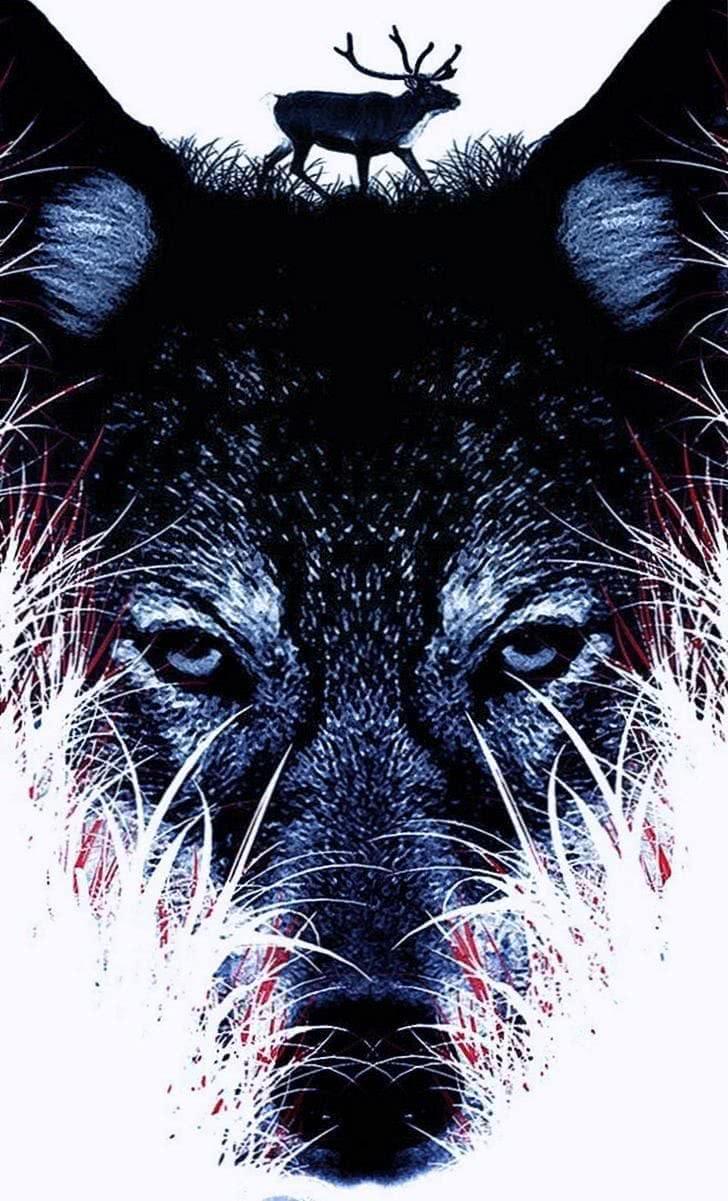 Wolf Head iPhone Wallpaper