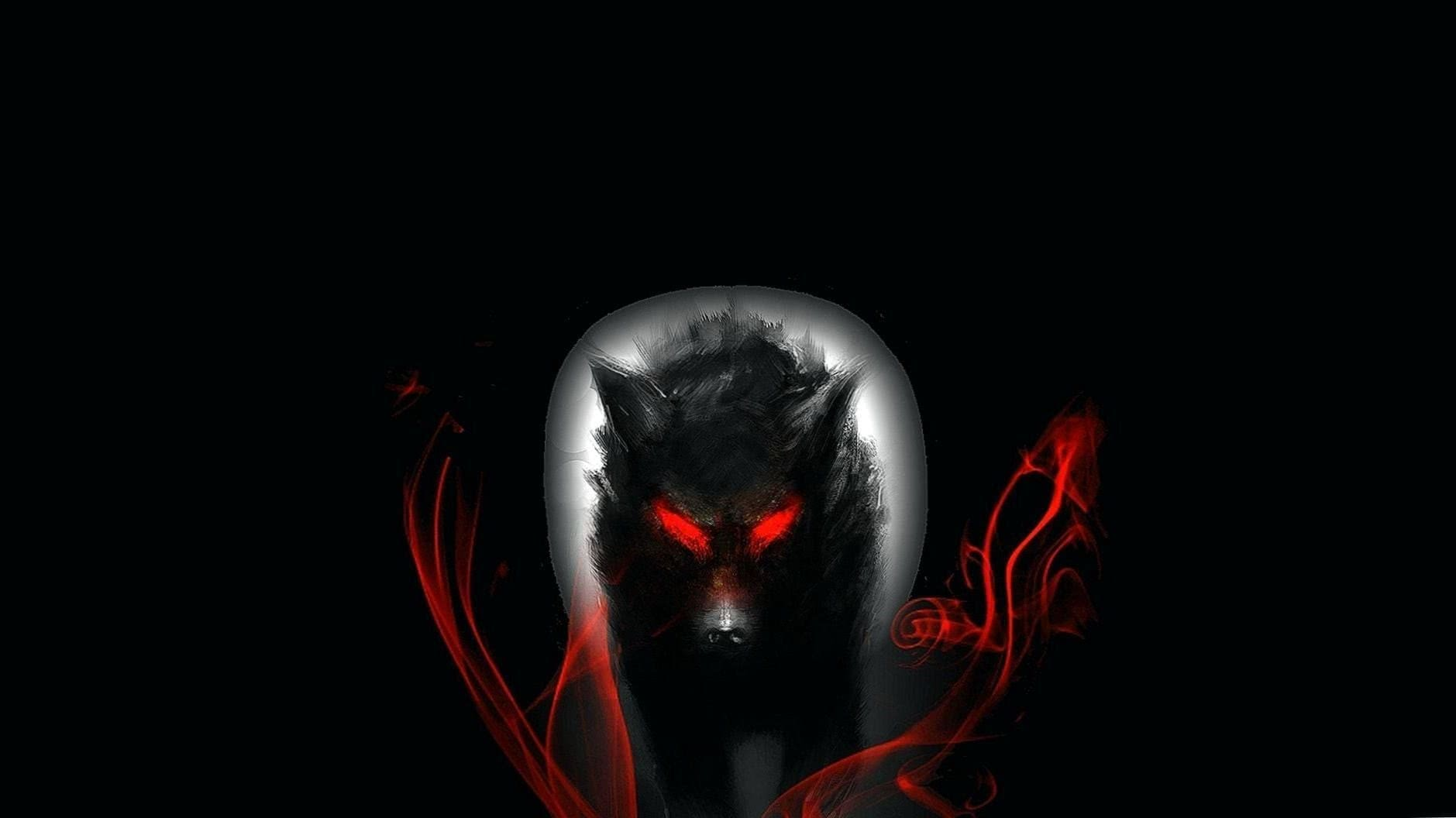 Black Wolf With Red Eyes HD Wallpapers