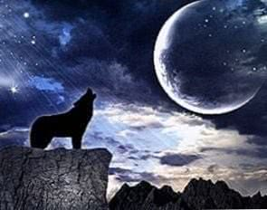 Wallpapers Dark Moon Wolf