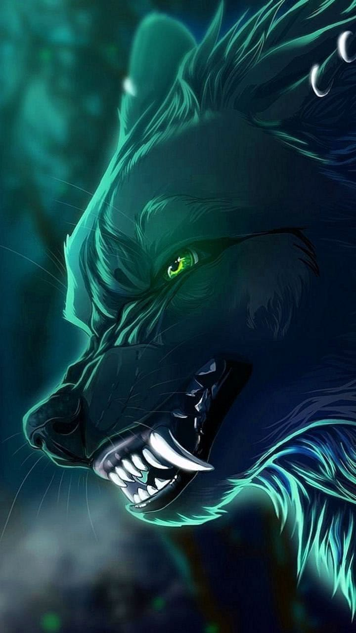 Anime Wolf Phone Wallpaper