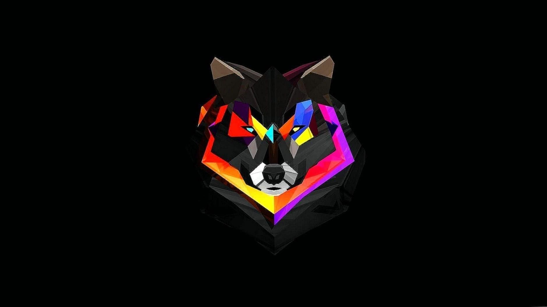 Wolf Wallpaper Colorful