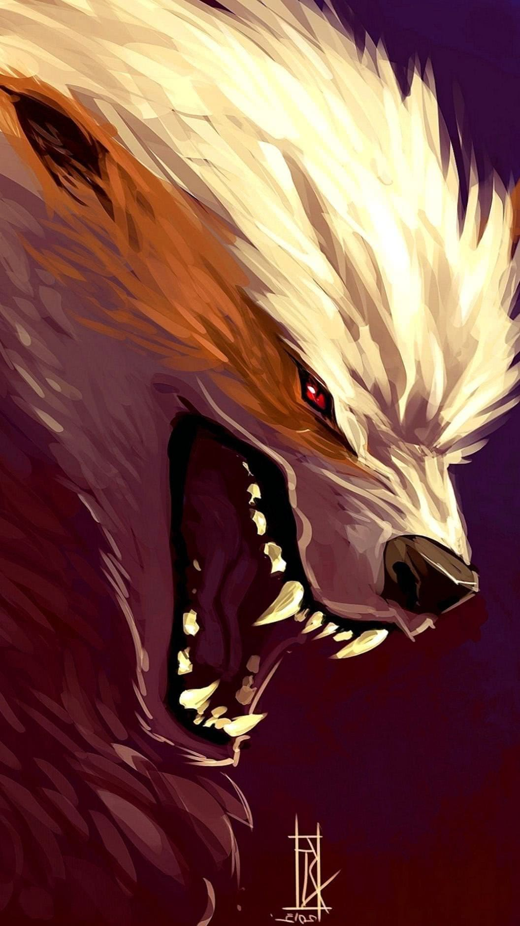 Anime Wolf iPhone Wallpaper