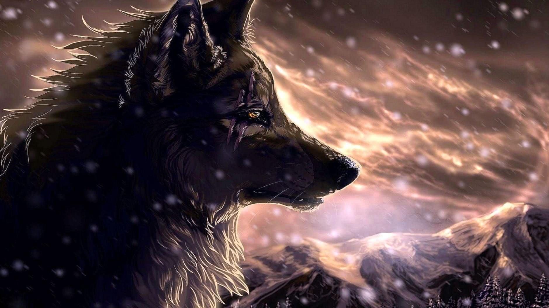 Wolves Background Wallpaper
