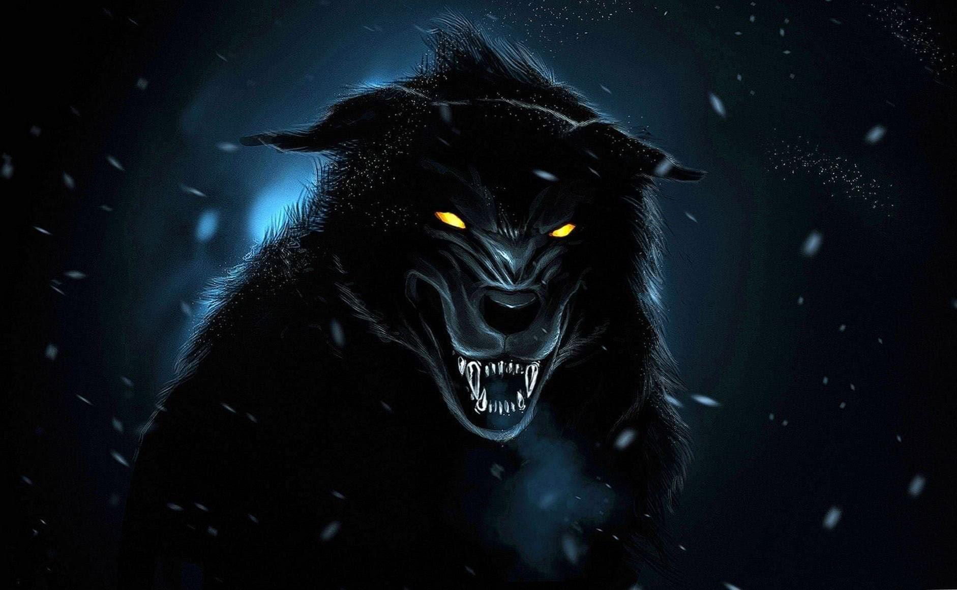 Black Wolves Wallpaper HD