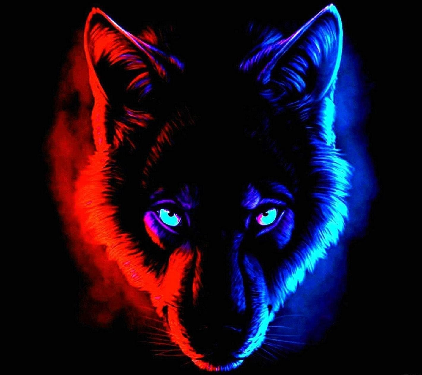 Red And Blue Wolf Wallpapers