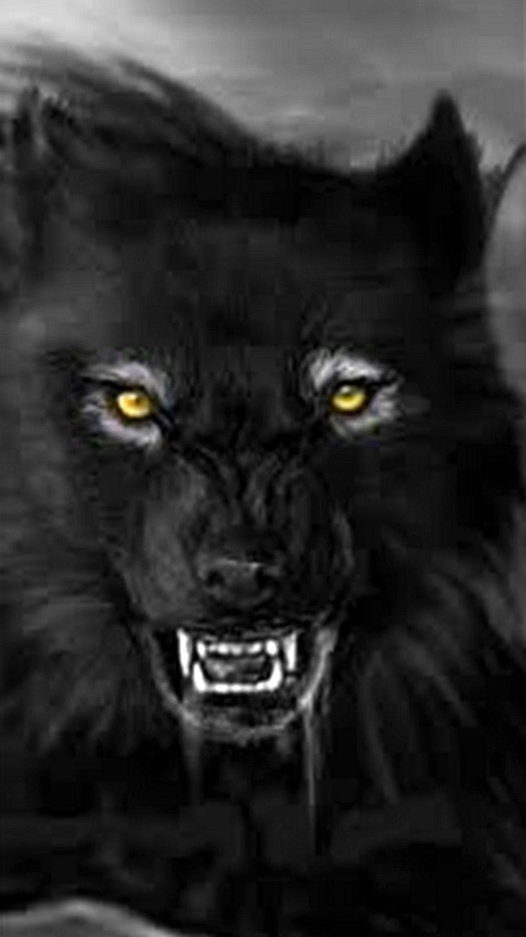 Wallpapers Mobile Black Wolf