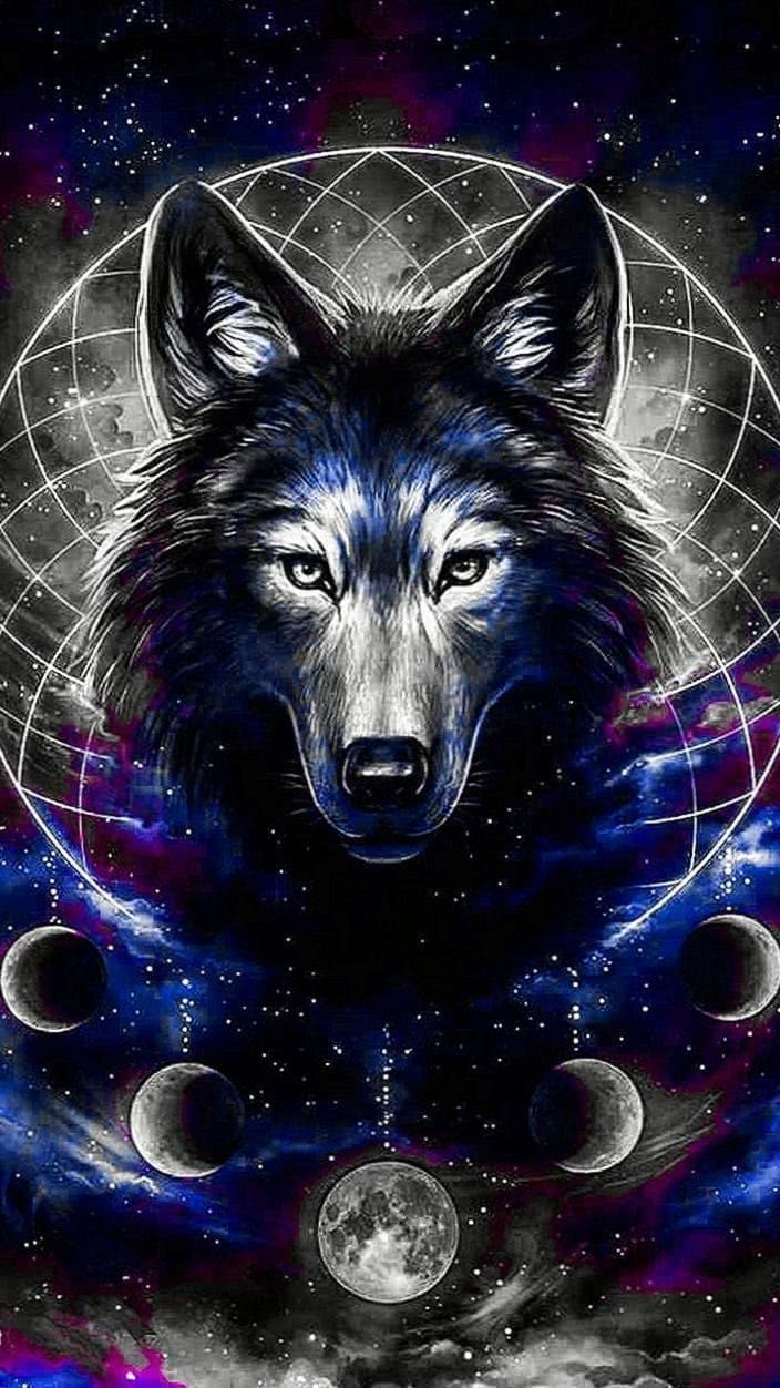 Wolf Drawing iPhone Wallpaper