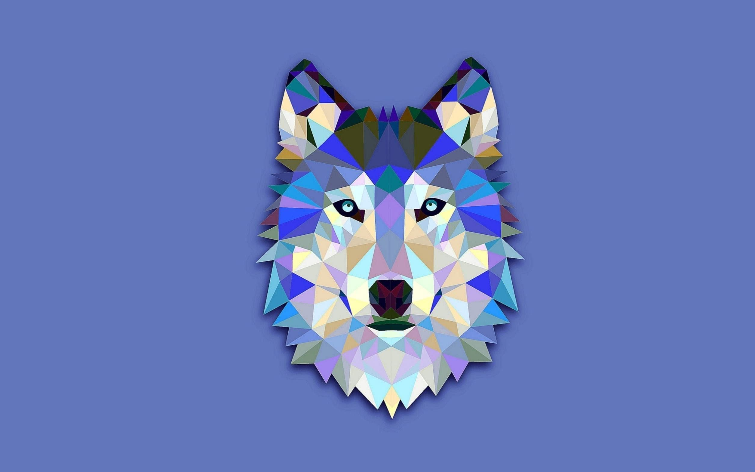 Blue Wolf Abstract Wallpapers