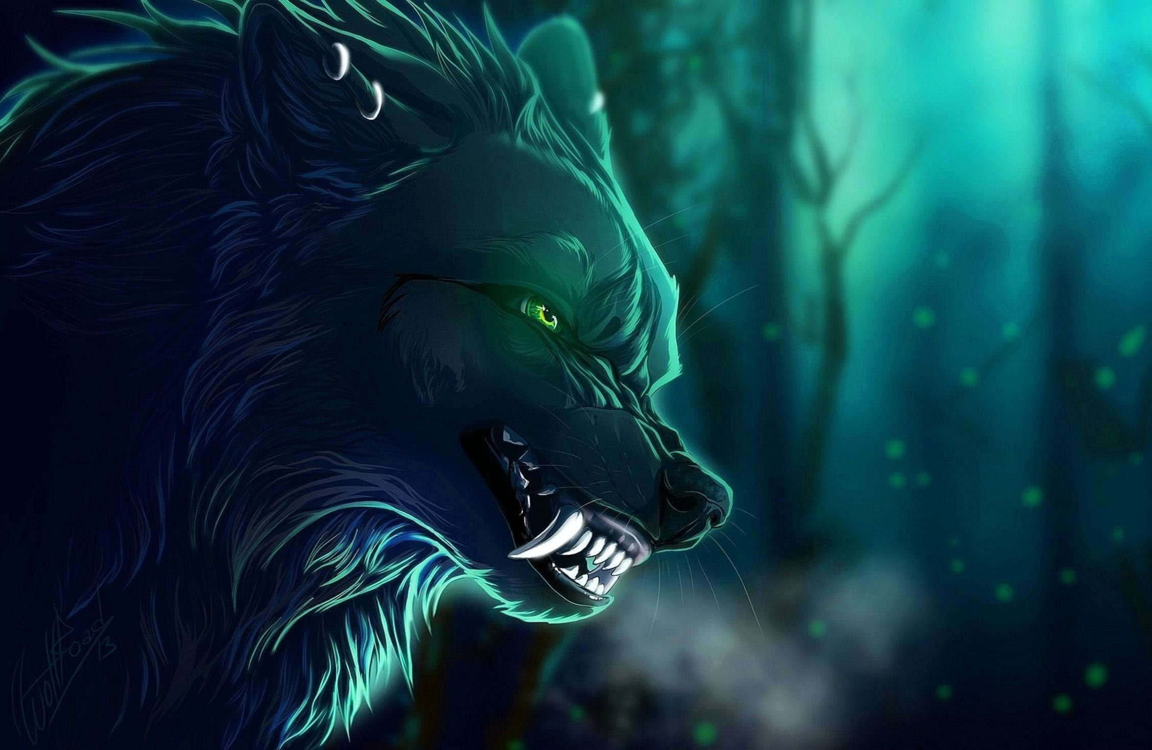 Mobile Wallpaper Fantasy Wolf