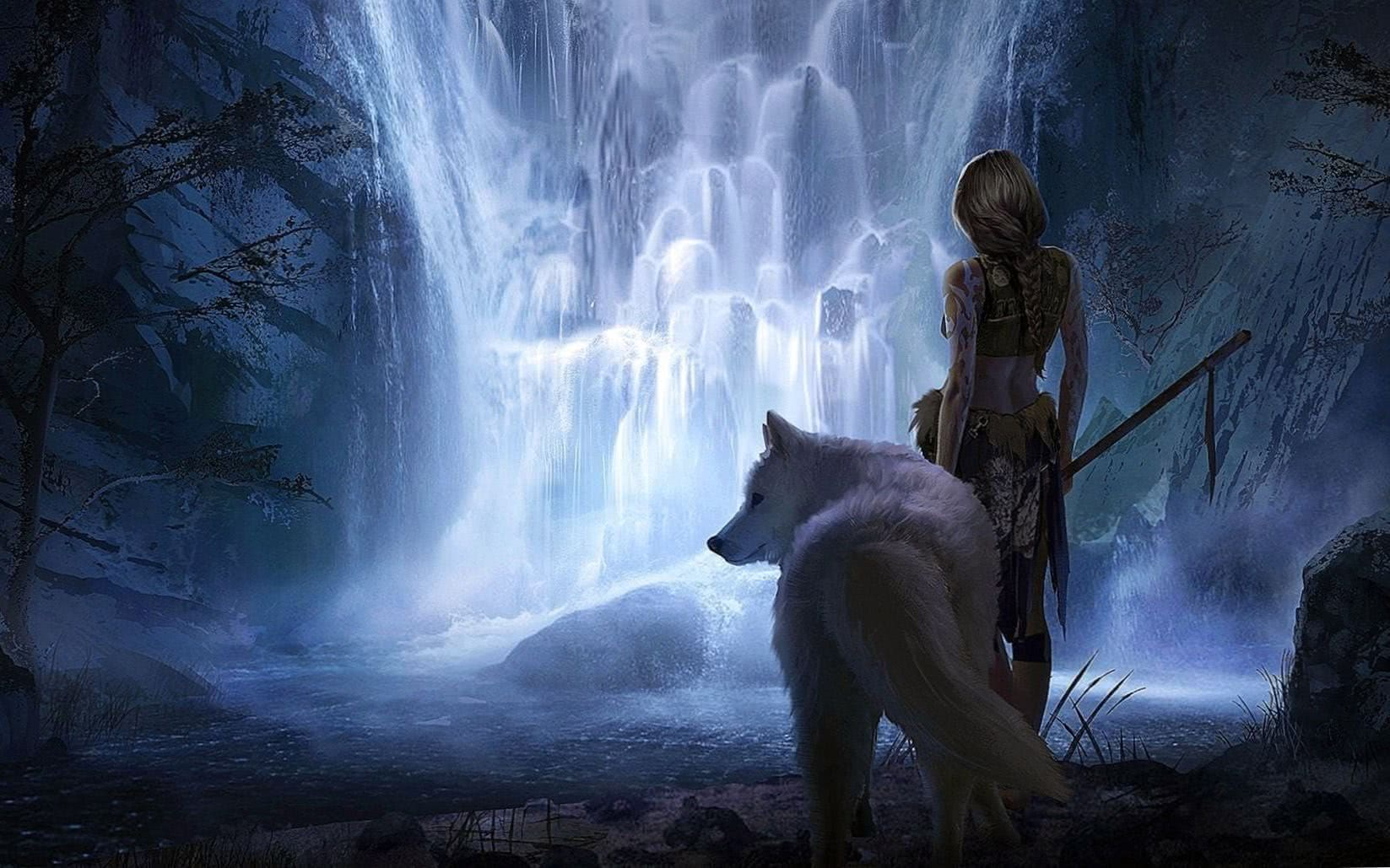Fantasy Wolf Desktop Wallpapers
