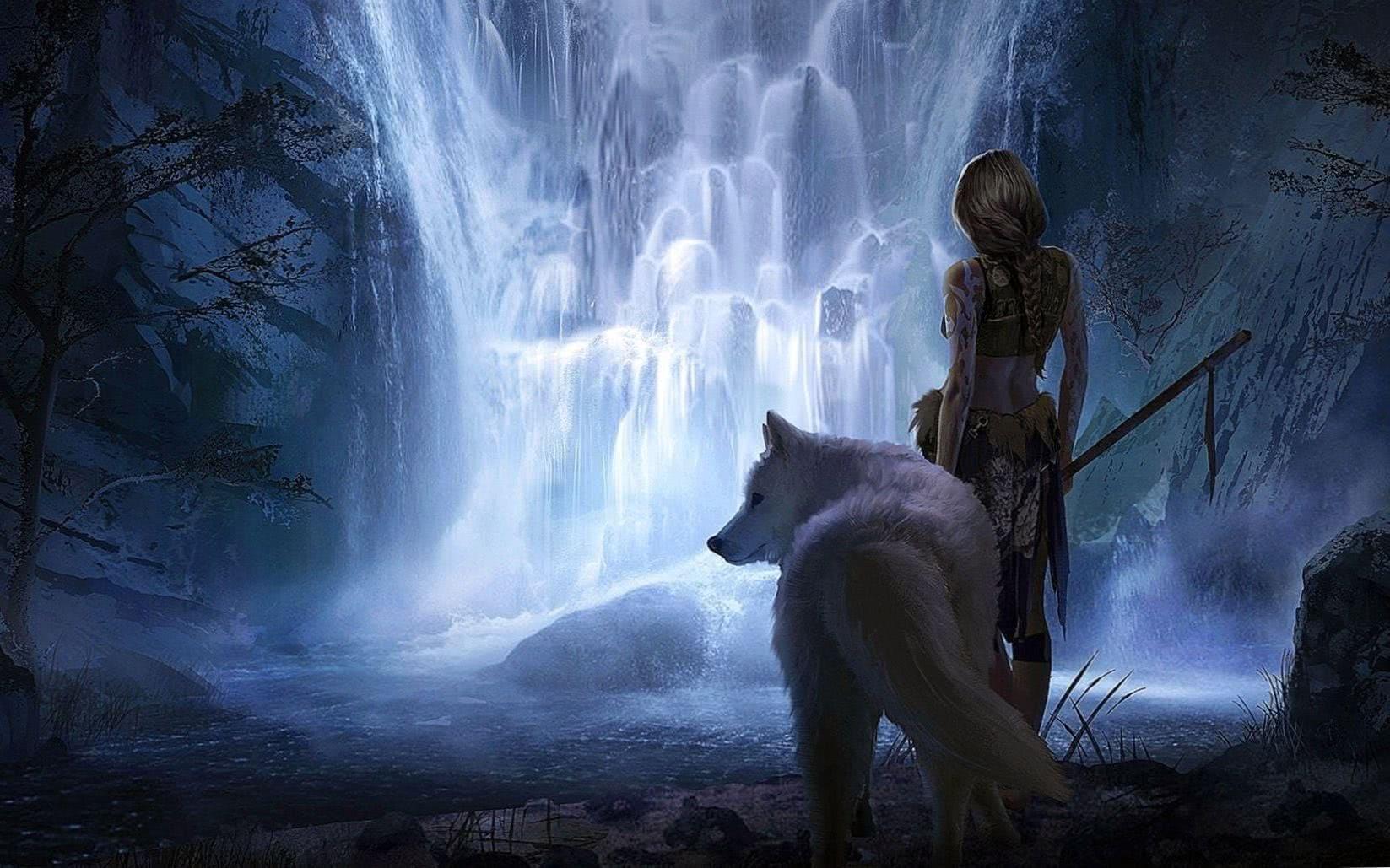 Wolf Woman HD Wallpaper