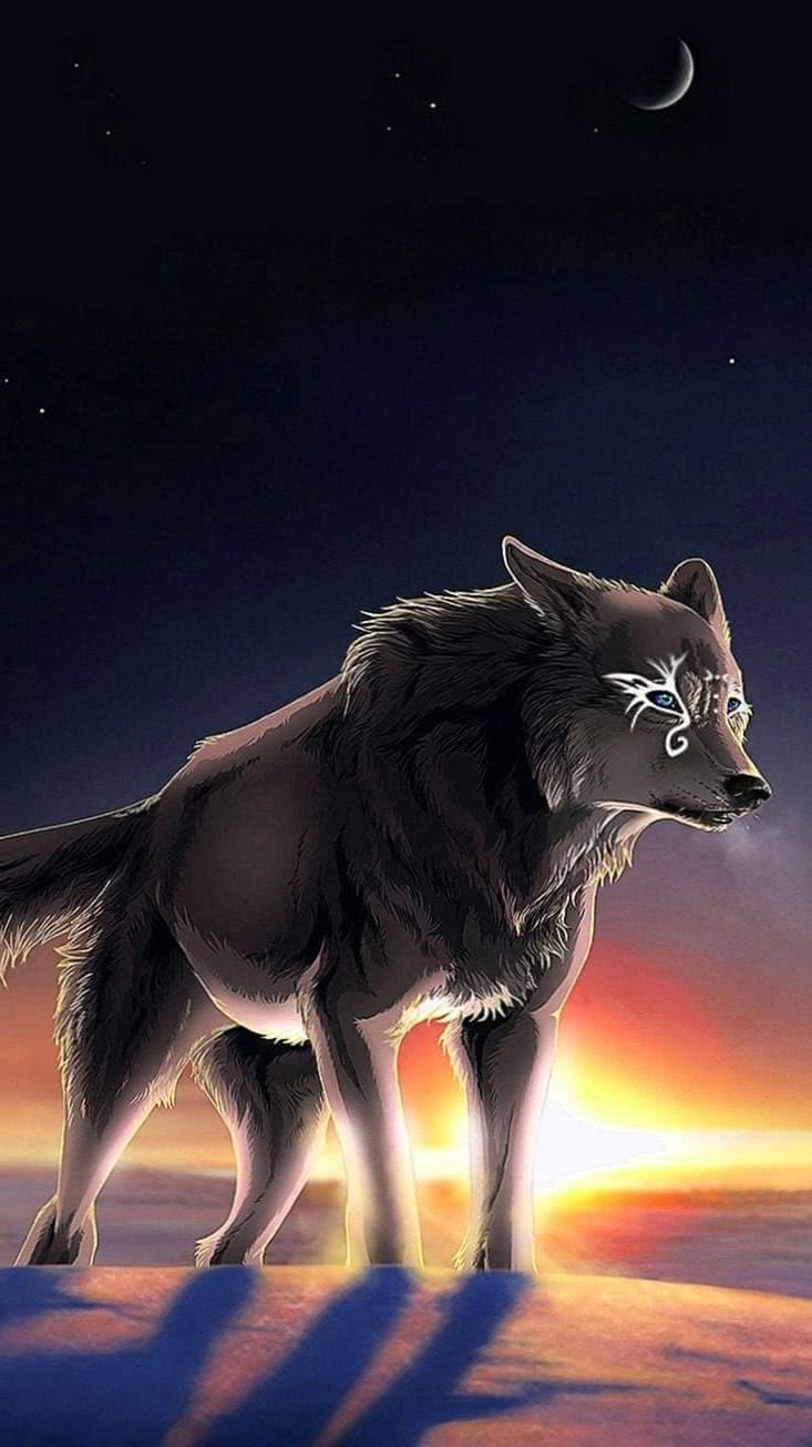 Wallpaper iPhone 6S Wolf