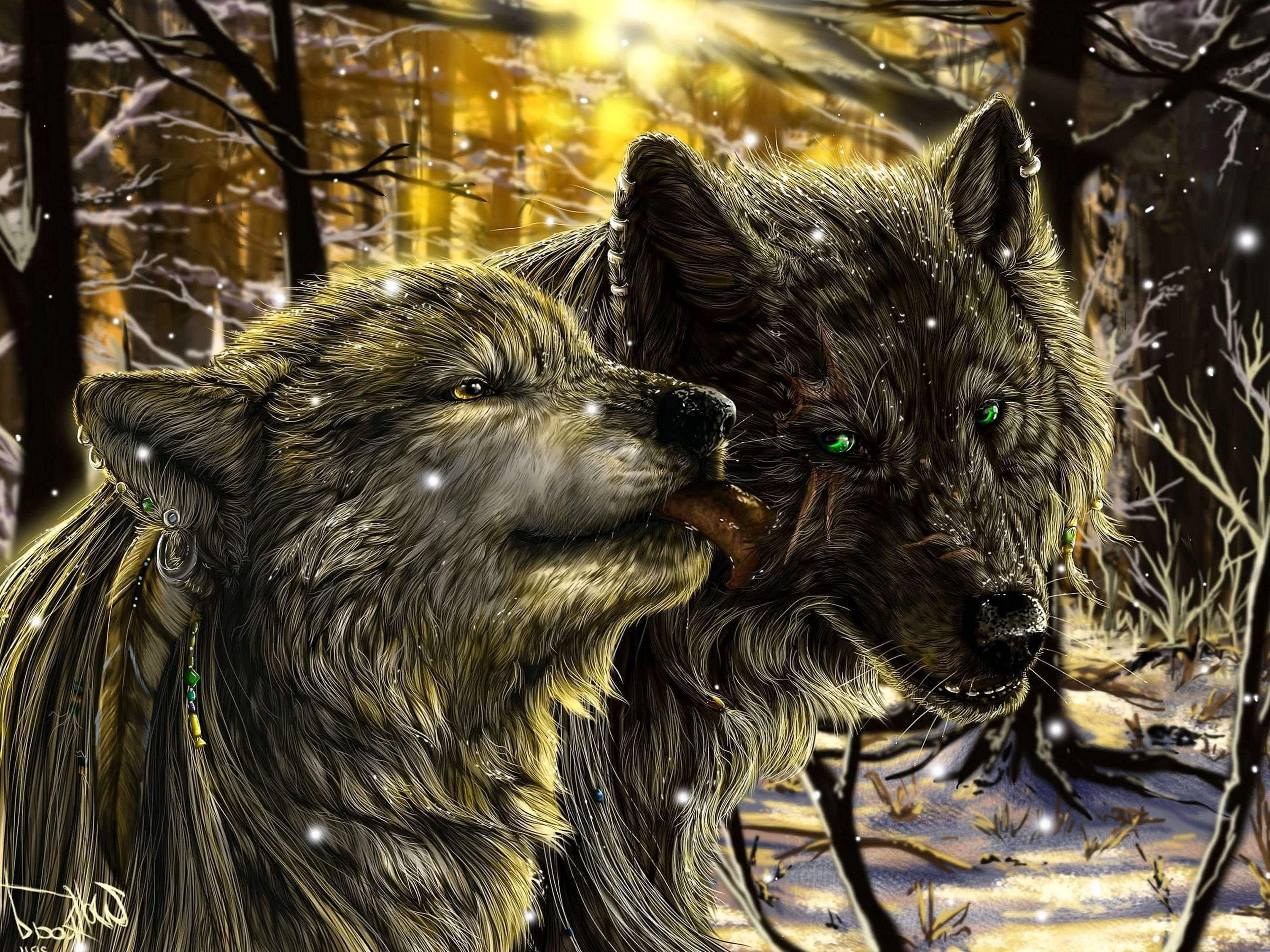 Fantasy Wolf Art Wallpapers