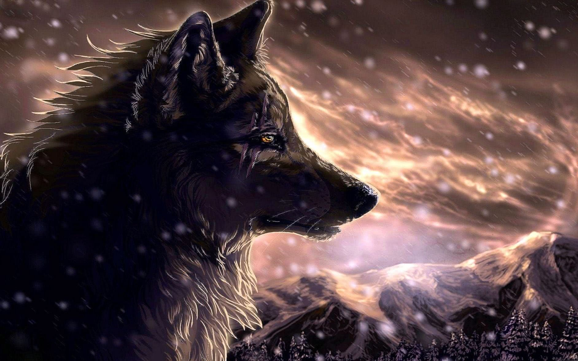 Fantasy Wolf Mobile Wallpaper
