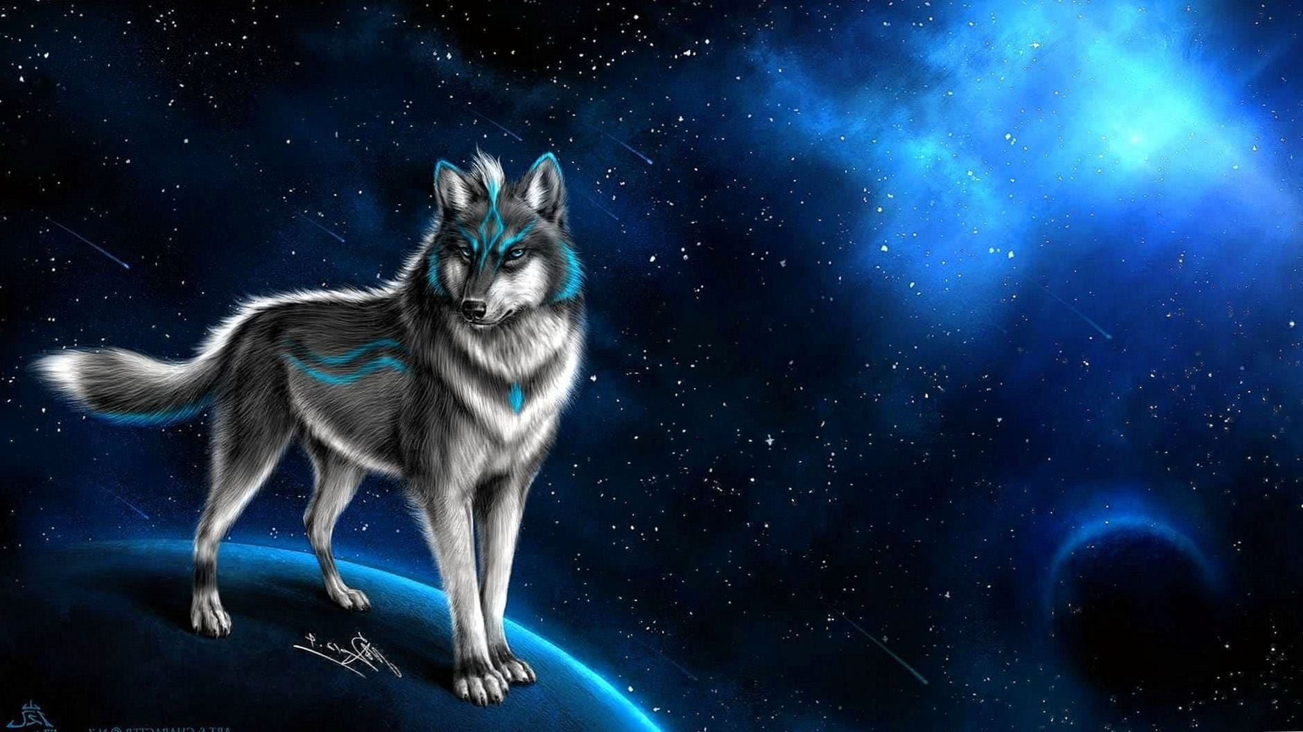 Fantasy Wolf Wallpaper For Desktop