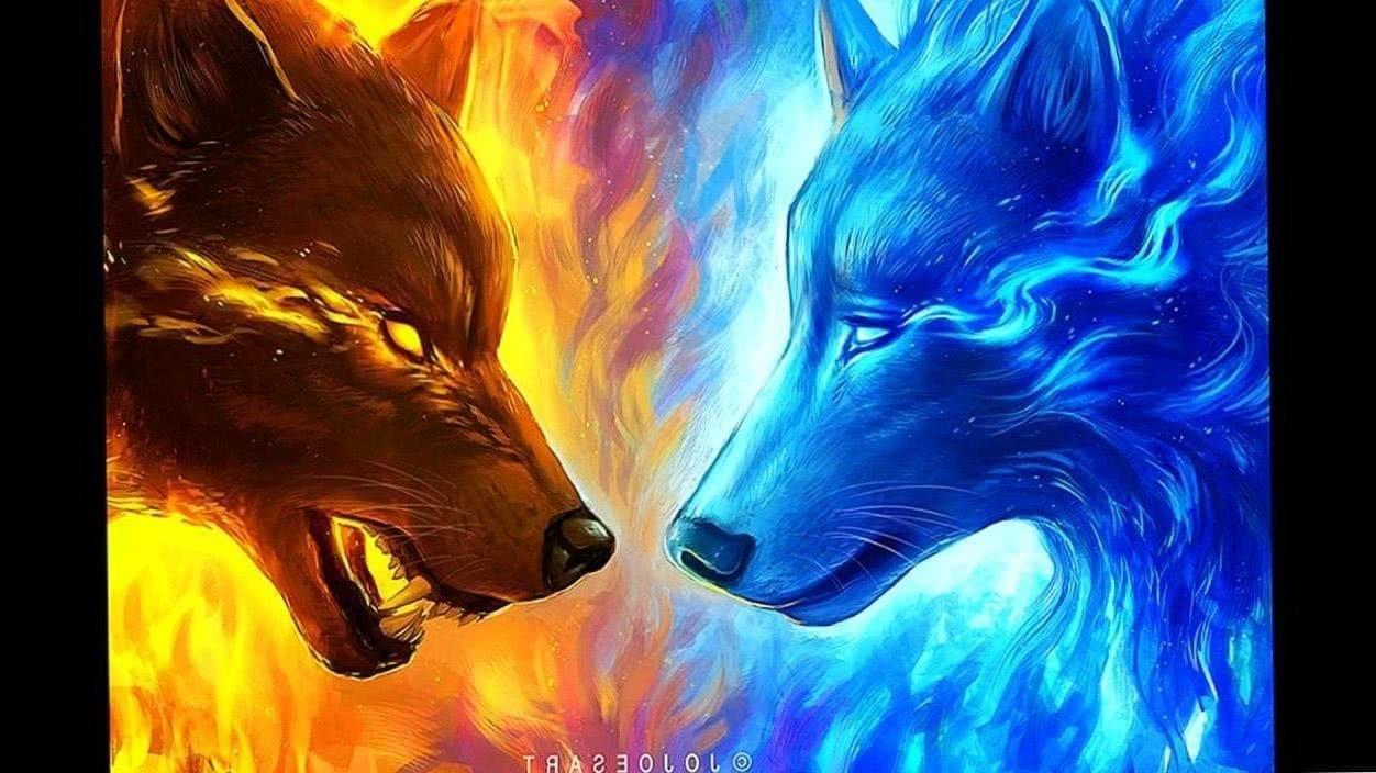 Fire And Ice Wolf Wallpapers Wolf Wallpaperspro