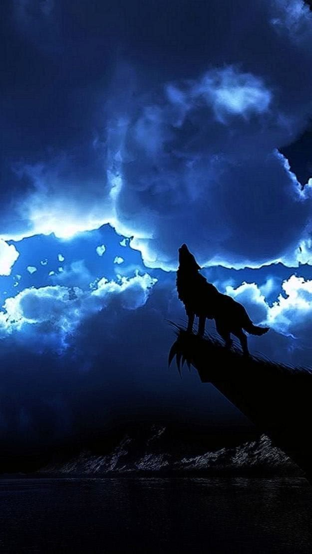 Wolf Howling iPhone Wallpapers