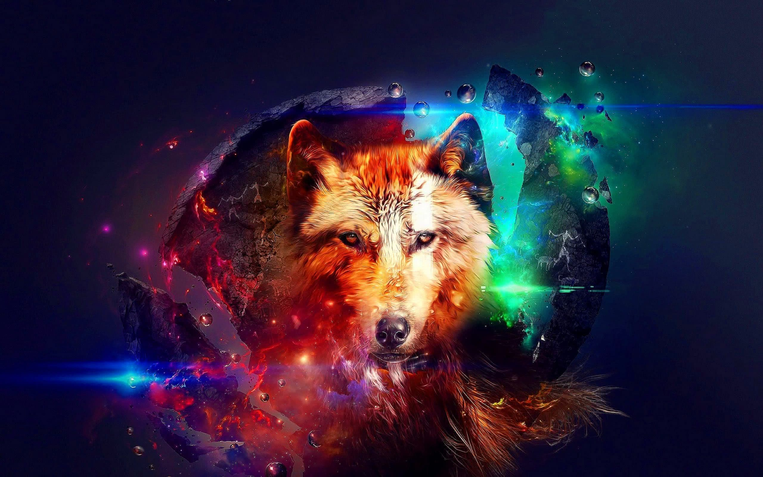 Galaxy Wolf Wallpapers