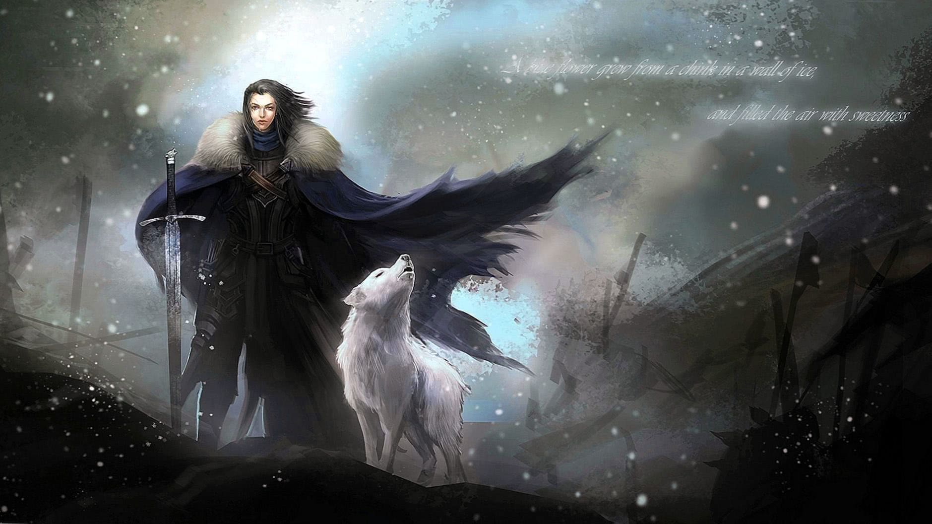 Game Of Thrones Dire Wolf Wallpaper