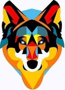 Geometric Wolf iPhone Wallpapers
