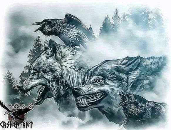 Norse Wolf Wallpaper