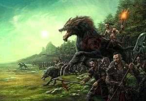 Wallpapers Battle Wolf