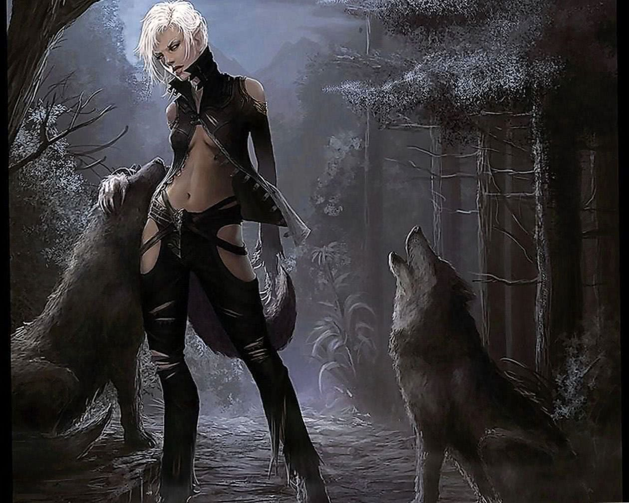 Wolf And Vampire Wallpaper